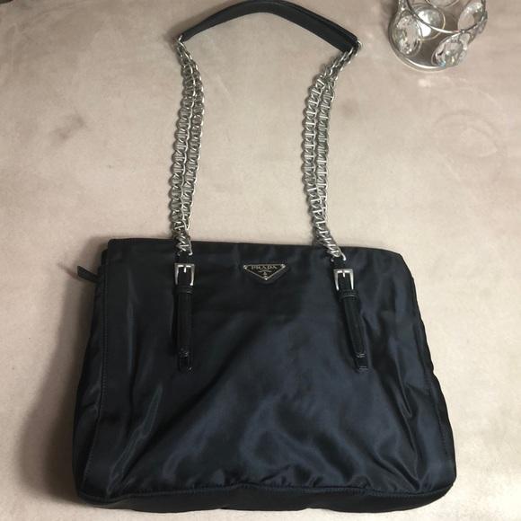 0177122fc069 Vintage Prada nylon Chain Shoulder Bag ✨! M_5b58d67045c8b3181905adf0